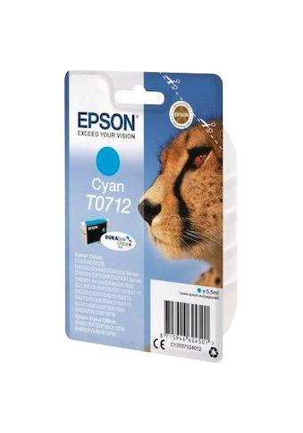 Epson Tintenpatrone »T0712 Original Cyan C13T07124012« kaufen
