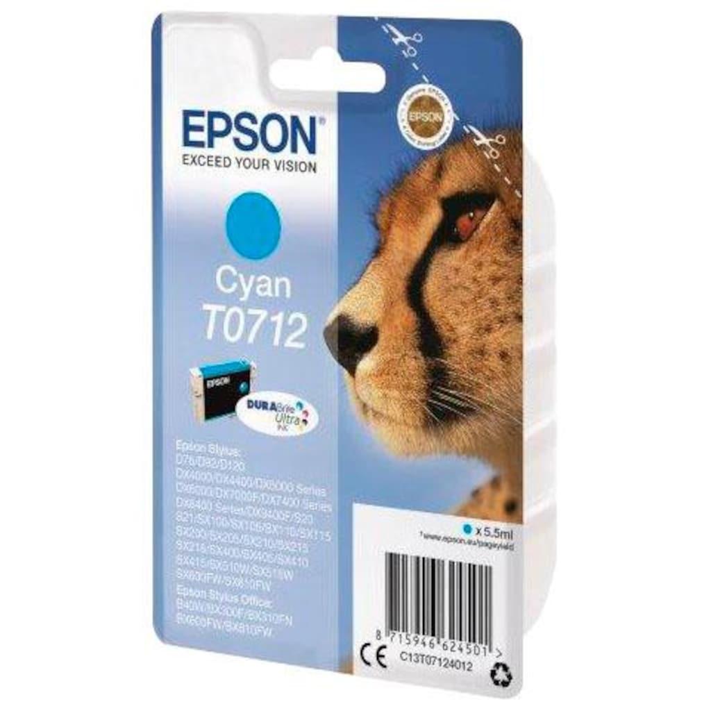 Epson Tintenpatrone »T0712 Original Cyan C13T07124012«