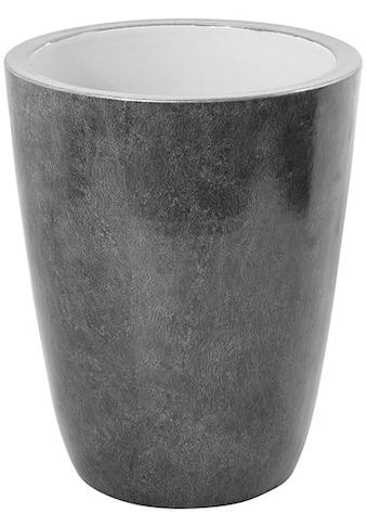 Fink Übertopf »MELUA, grau/silberfarben«, (1 St.), Pflanzübertopf, Blumenübertopf,... kaufen