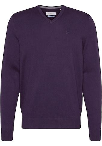 bugatti V-Ausschnitt-Pullover, leichte Feinstrickqualität, super weich im Griff kaufen