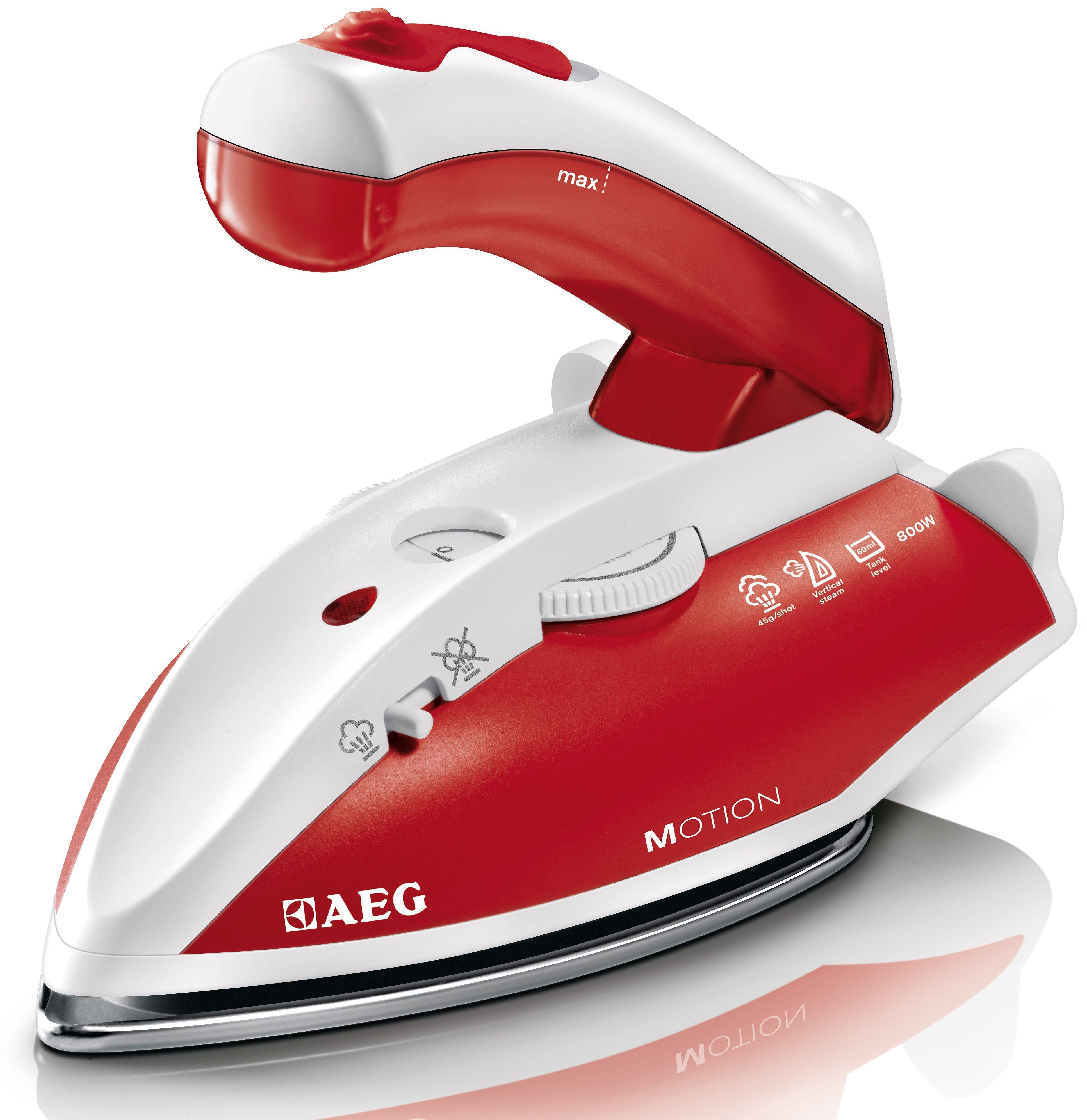 AEG Reise-Dampfbügeleisen DBT 800, 800 Watt | Flur & Diele > Haushaltsgeräte > Bügeleisen | Rot | Edelstahl | AEG