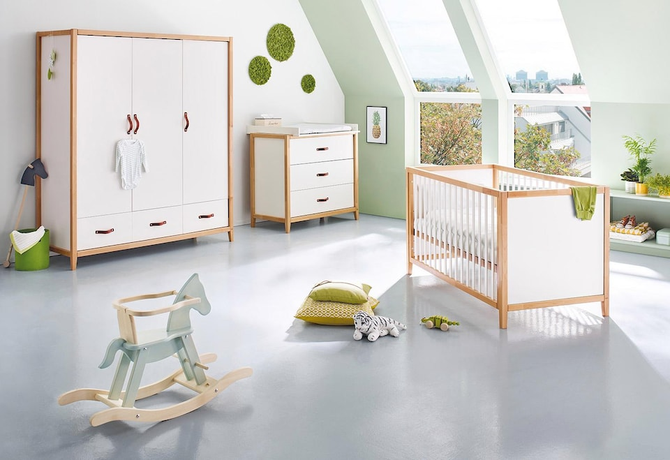 pinolino babyzimmer set 3 tlg kinderzimmer calimero breit gro auf rechnung kaufen. Black Bedroom Furniture Sets. Home Design Ideas