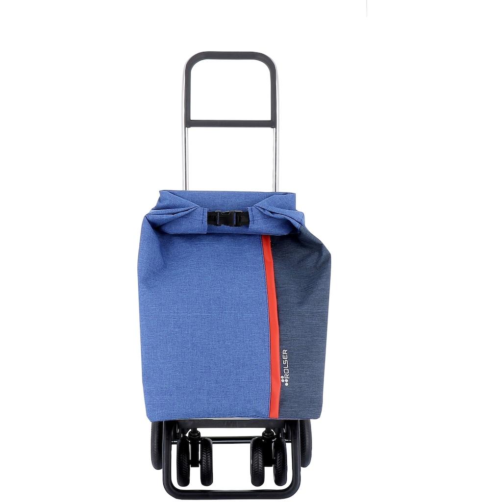 Rolser Einkaufstrolley »Logic Tour Roll Top Tweed«, in verschiedenen Farben, Max. Tragkraft: 40 kg, Tasche abnehmbar