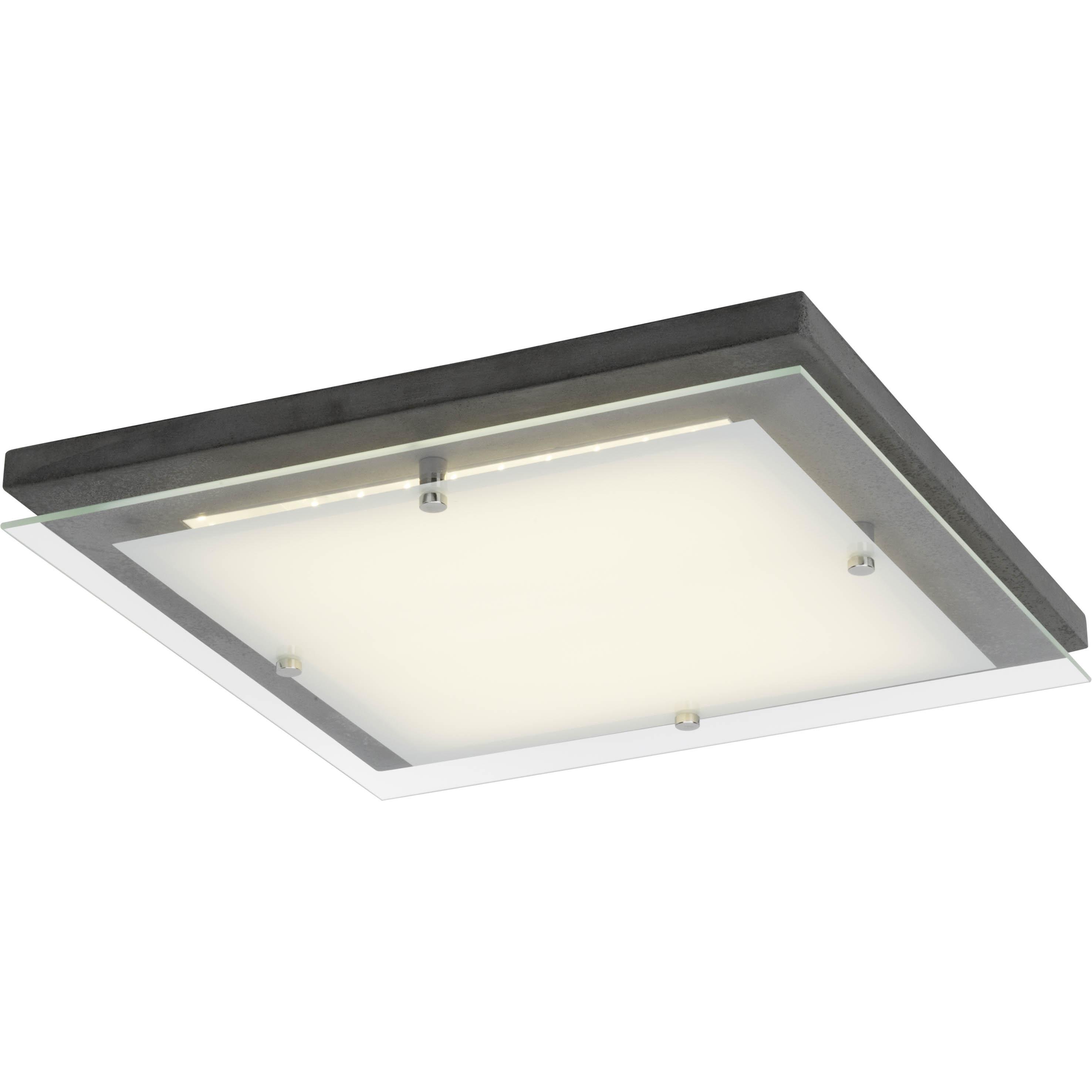 Brilliant Leuchten Hardwood LED Deckenleuchte 40x40cm beton/weiß   Lampen > Deckenleuchten > Deckenlampen   Weiß   Beton - Glas   BRILLIANT LEUCHTEN
