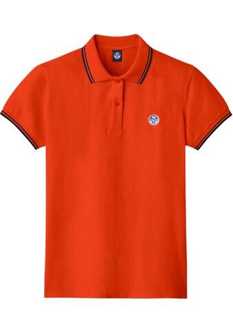 North Sails Poloshirt, mit gestreiftem Kragen und Ärmelkante kaufen