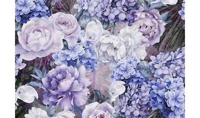 CONSALNET Papiertapete »Blauer Blumen Mix«, in verschiedenen Größen kaufen