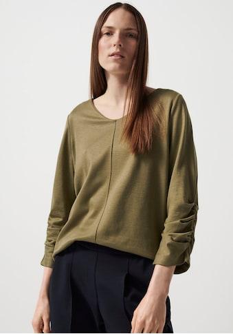 someday Langarmshirt »Kayen«, mit gerafftem 3/4-Ärmel kaufen