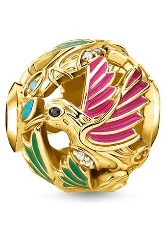 THOMAS SABO Bead »Kolibri gold, K0338-471-7«, mit synth. Korund, Glassteinen und Zirkonia kaufen