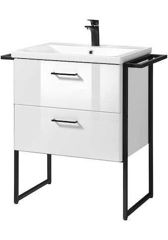 WELLTIME Waschplatz - Set »Trento «, BLACK, stehender Waschtisch, Breite 80 cm, 2 - tlg. kaufen