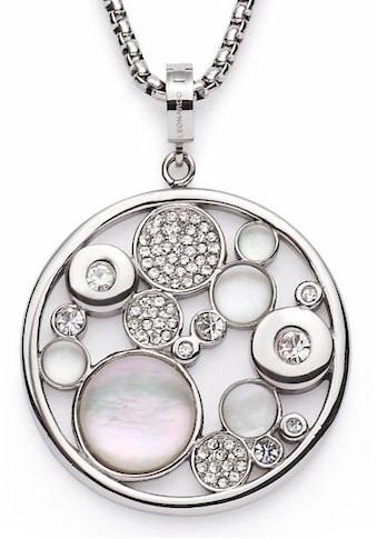 LEONARDO Kette mit Anhänger »Alexia, 016510«, mit Perlmutt, Glas- und Kristallsteinen kaufen