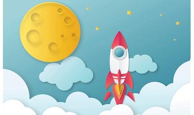 CONSALNET Papiertapete »Kindermotiv Rakete«, in verschiedenen Größen kaufen