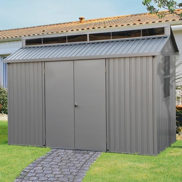 DURAMAX Metallgerätehaus »Alu Shed 10x8«, Aluminium, BxTxH: 323x232x235 cm