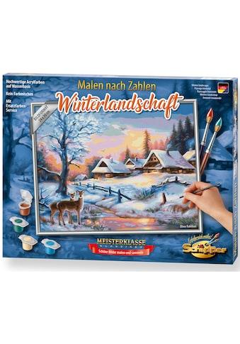 Schipper Malen nach Zahlen »Meisterklasse Klassiker - Winterlandschaft«, Made in Germany kaufen
