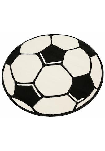 HANSE Home Kinderteppich »Fußball«, rund, 10 mm Höhe, Fußball Spielteppich für jede... kaufen
