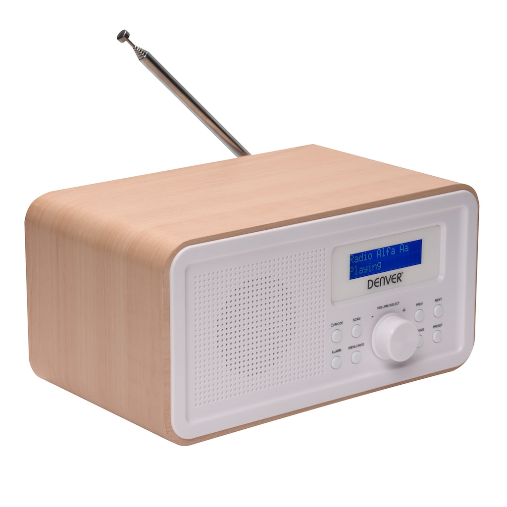 Denver Radio »Denver Radio DAB-30 LIGHTWOOD«, (Digitalradio (DAB+)