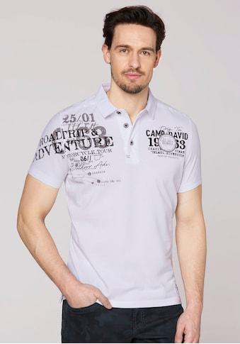 CAMP DAVID Poloshirt, mit vielen Details kaufen