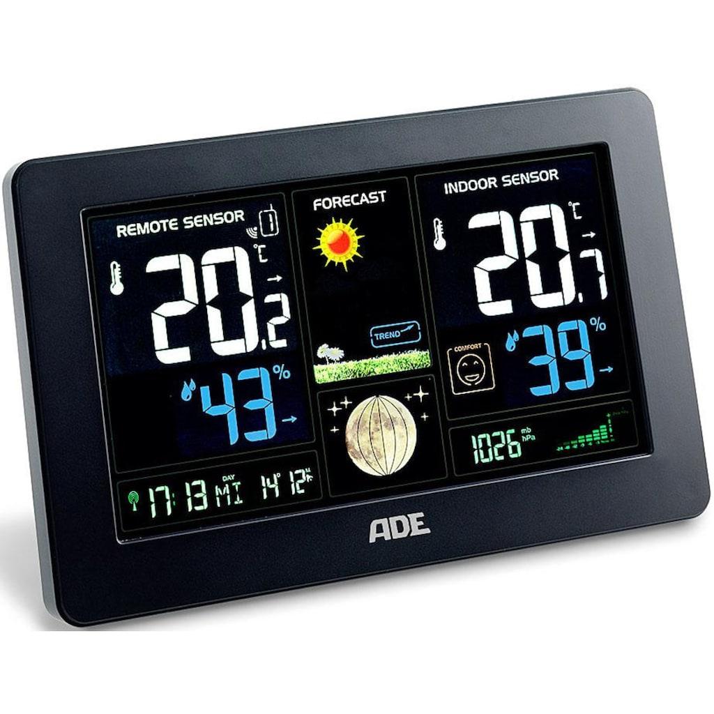 ADE Funkwetterstation »WS 1704«, (mit Außensensor), mit Farbdisplay, Innen- & Außetemperatur