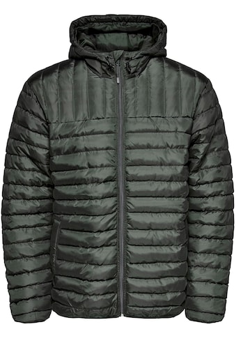 ONLY & SONS Steppjacke »PAUL QUILTED HOOD JACKET« kaufen