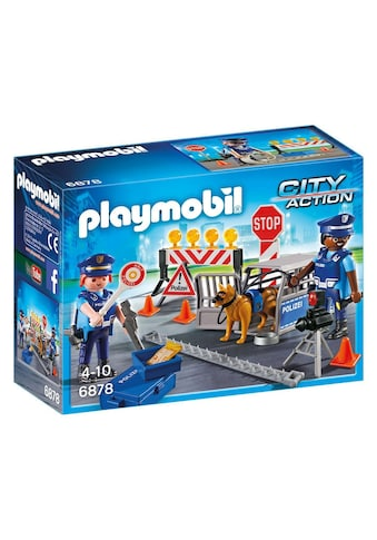 "Playmobil® Konstruktions - Spielset ""Polizei - Straßensperre (6878), City Action"", Kunststoff kaufen"