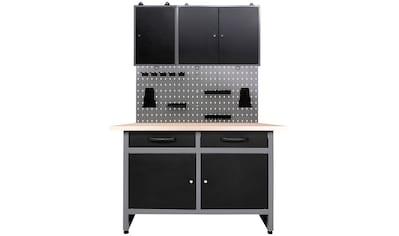 ONDIS24 Werkstatt - Set 120 cm, mit Lochwandsystem inkl. Haken kaufen