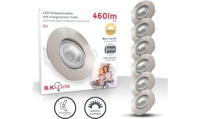 B.K.Licht LED Einbauleuchte, LED-Board, Warmweiß, LED Einbauspots schwenkbar Deckenstrahler ultra flach IP23 Ø90mm 6er SET kaufen