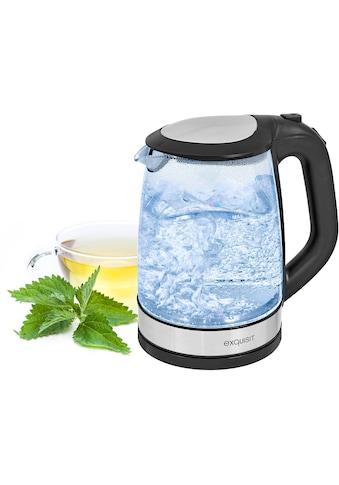 exquisit Wasserkocher, WK 3501 swg, 2 Liter, 2200 Watt kaufen