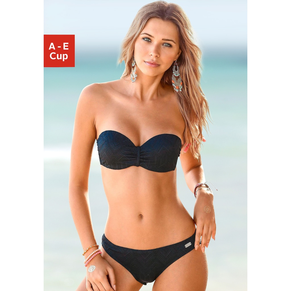 Buffalo Bügel-Bandeau-Bikini, aus Strukturware