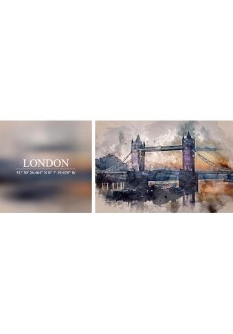 queence Leinwandbild »London«, (Set), 2er-Set kaufen