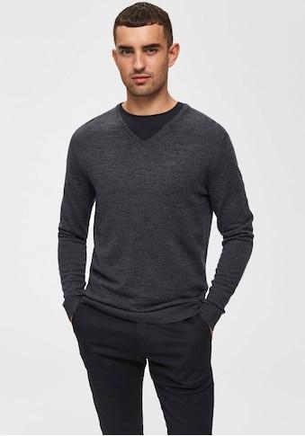 SELECTED HOMME V-Ausschnitt-Pullover »TOWER NEW MERINO V-NECK« kaufen