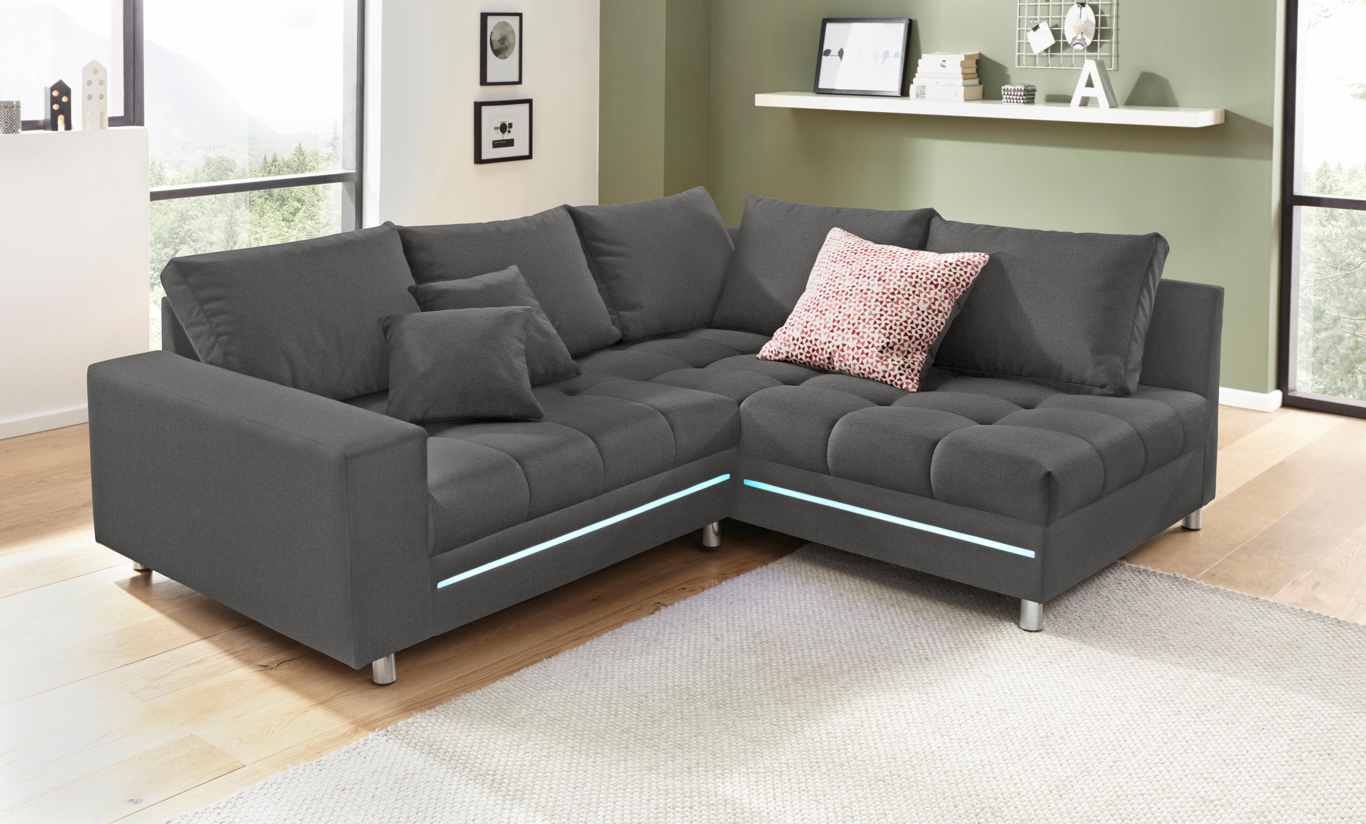 Polsterecke | Wohnzimmer > Sofas & Couches > Ecksofas & Eckcouches | Grau | Holzwerkstoff | QUELLE