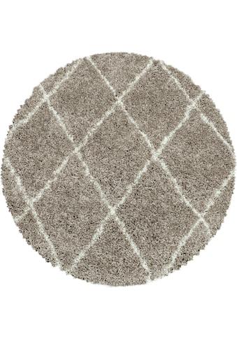 Ayyildiz Hochflor-Teppich »ALVOR 3401«, rund, 50 mm Höhe kaufen