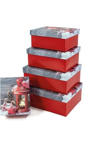 NOOR LIVING Aufbewahrungsbox »Weihnachtsstimmung«, (Set, 5 St.), Wunderschönes,... kaufen