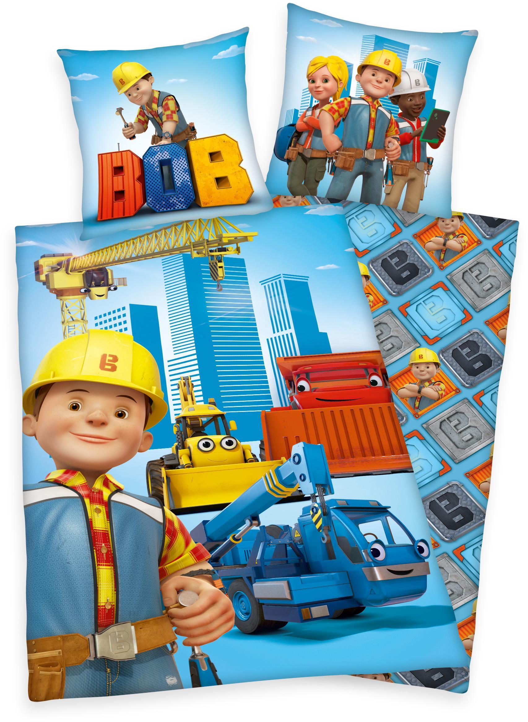 Kinderbettwäsche »Bob«, Bob der Baumeister | Kinderzimmer > Textilien für Kinder > Kinderbettwäsche | Bunt | Ab - Baumwolle | BOB DER BAUMEISTER