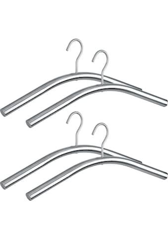 WENKO Kleiderbügel »Dry«, (Set, 4 tlg.), rostfrei, Edelstahl-Optik, 45 cm kaufen