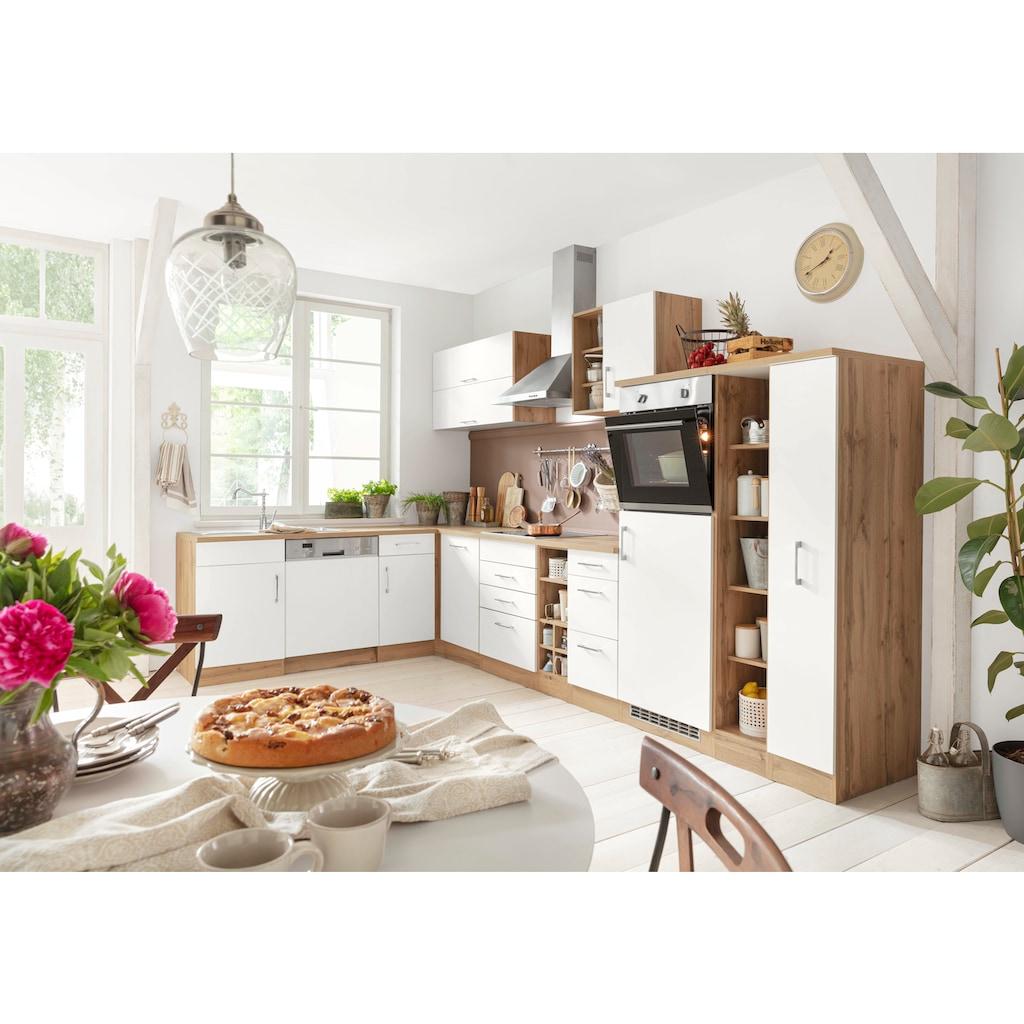 HELD MÖBEL Winkelküche »Colmar«, mit E-Geräten, Stellbreite 210/360 cm