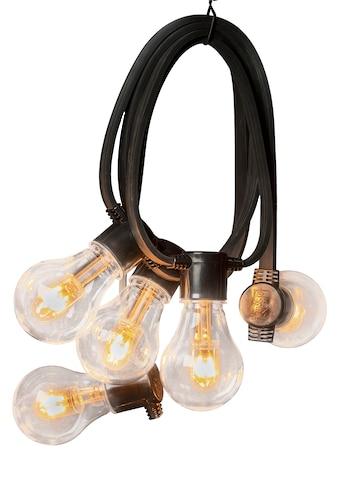 KONSTSMIDE LED-Lichterkette, 40 St.-flammig, LED Biergartenkette, klar, mit Dimmer, 10... kaufen