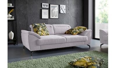sit&more 2,5-Sitzer, 12 cm Fußhöhe, inklusive Sitztiefenverstellung, wahlweise Kopfteilverstellung, wahlweise in 2 unterschiedlichen Fußfarben kaufen