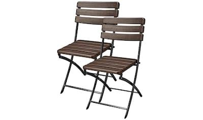 GARDEN PLEASURE Gartenstuhl »Tabora«, (2er Set), Stahl, klappbar kaufen