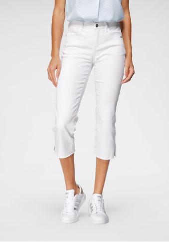 Bruno Banani 3/4-Jeans, Mit Fransensaum-NEUE KOLLEKTION kaufen