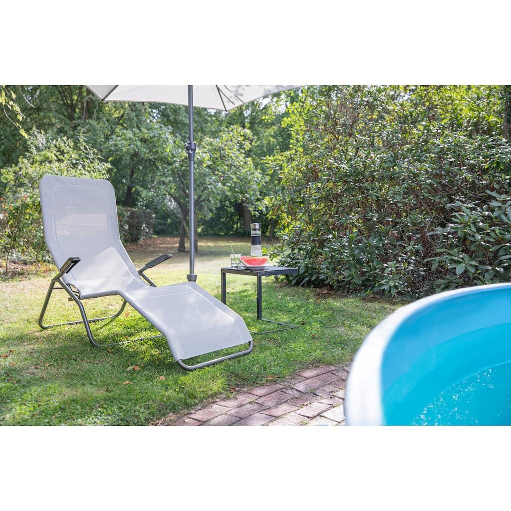 Siena Garden Gartenliege »Anco«, Stahl/Textil, klappbar