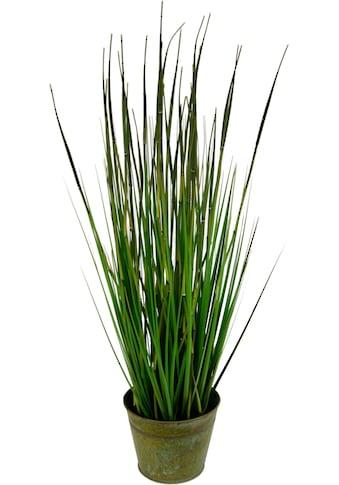 I.GE.A. Kunstpflanze »Bambusgras im Metalltopf« (1 Stück) kaufen