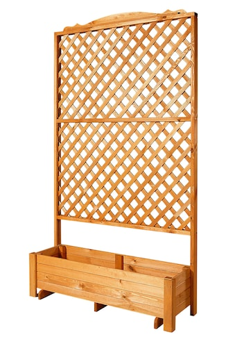 PROMADINO Holzspalier »Romantica«, mit Pflanzkasten, BxTxH: 120x38x210 cm kaufen