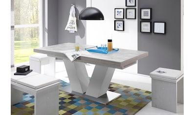 Mäusbacher Esstisch »Komfort D«, mit V-Gestell in weiß und mit Auszugsfunktion, Breite... kaufen