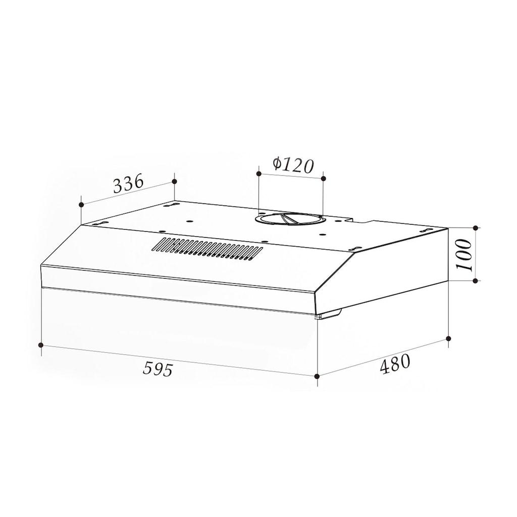 Klarstein Neo Unterbau-Dunstabzugshaube 60cm 175m³/h Edelstahl