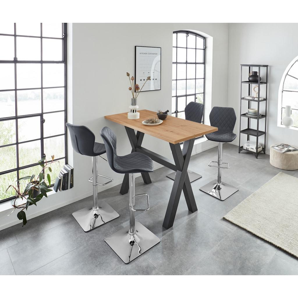 Duo Collection Barhocker »Barhocker Alcona«, 2er-Set, 360°drehbar, stufenlos höhenverstellbar