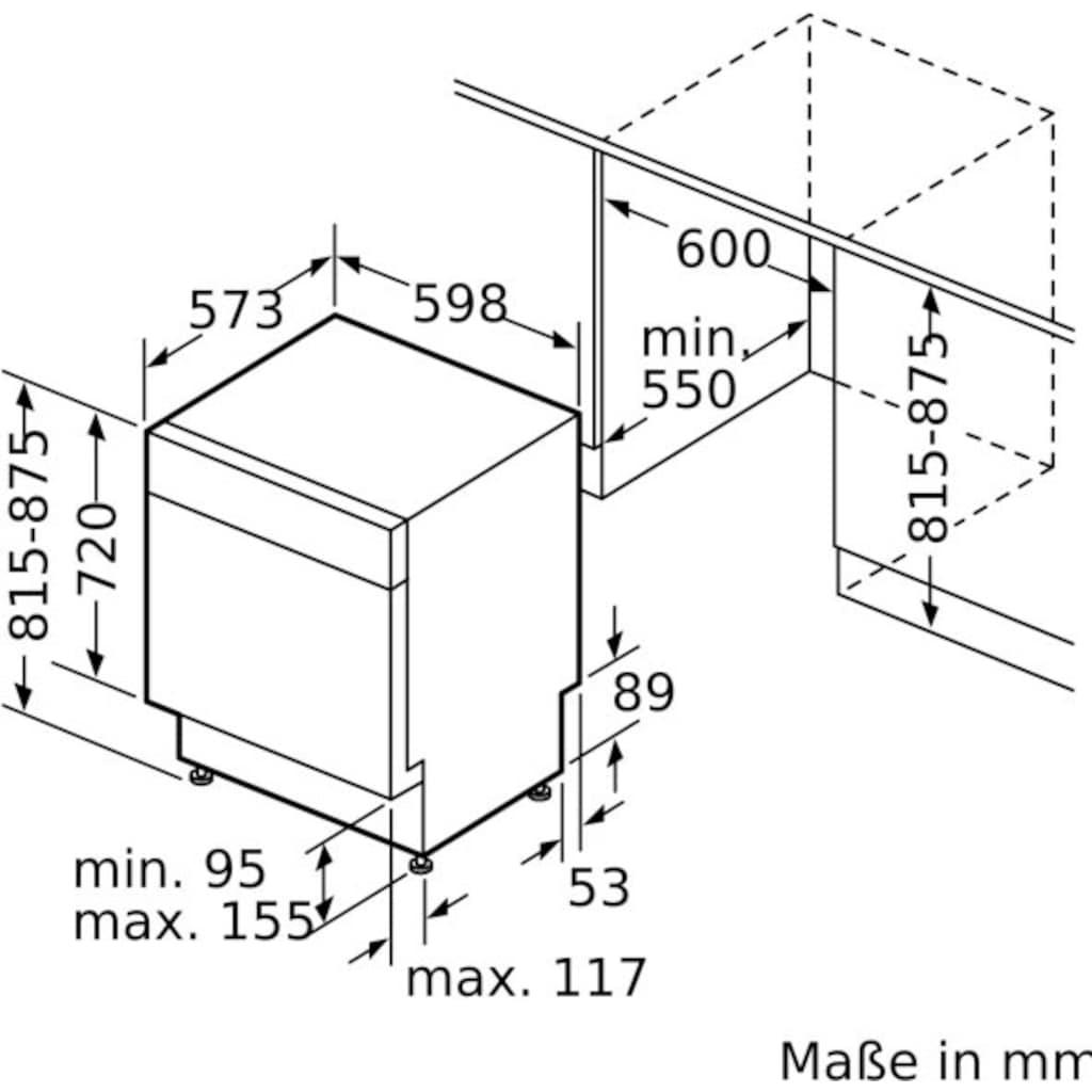 BOSCH Unterbaugeschirrspüler »SMU4HCS48E«, Serie 4, SMU4HCS48E, 14 Maßgedecke