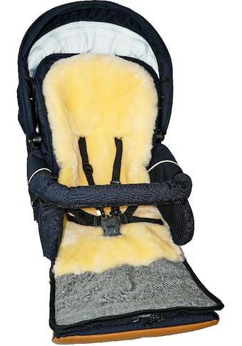 Heitmann Felle Fußsack »Eisbärchen - Winter-Multifunktionsfußsack«, Baby-Fußsack, mit echtem Lammfell, warm und weich, 5 Gurtschlitze kaufen