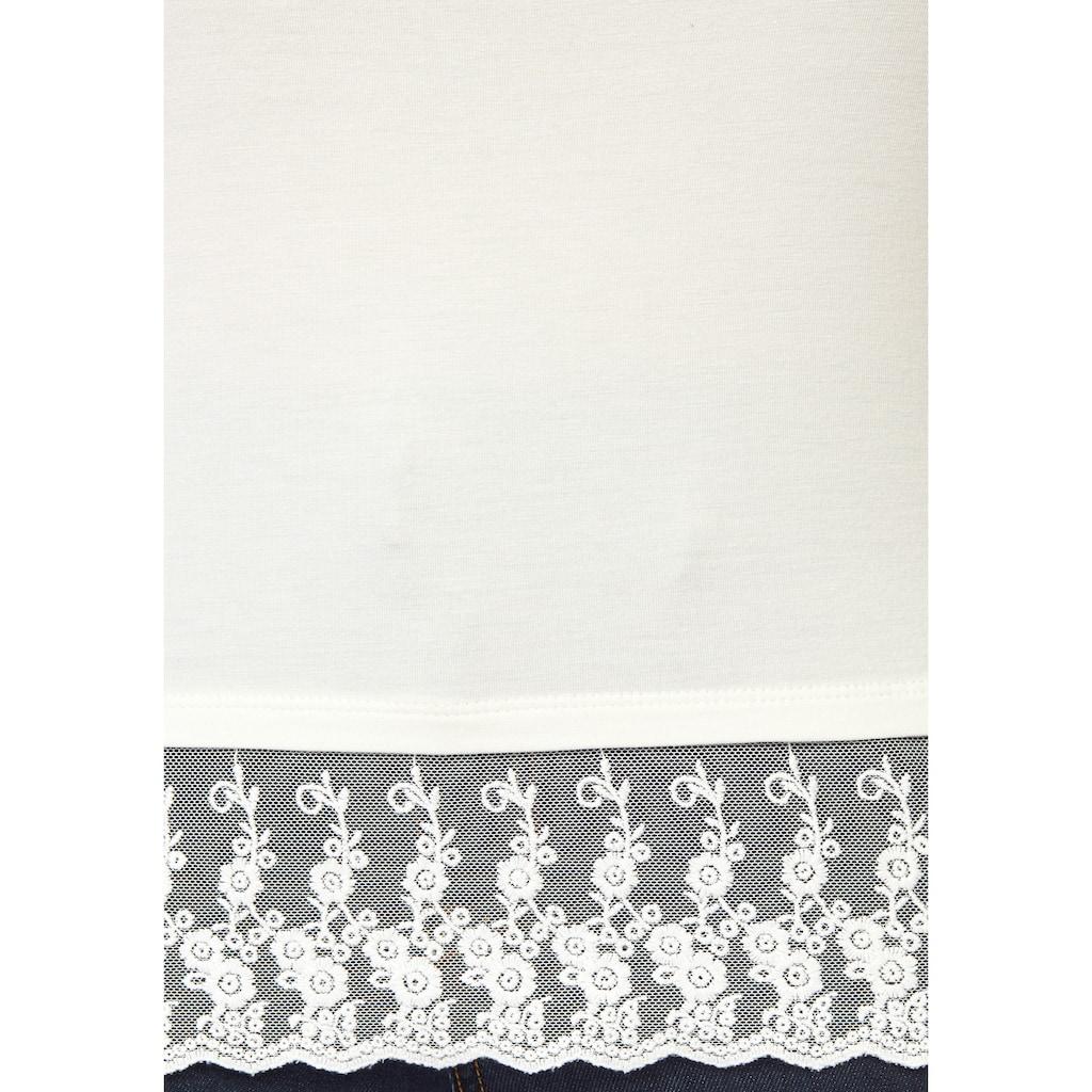 Boysen's Spitzentop, in kurzer Form mit verstellbaren Trägern