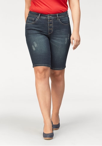 Arizona Jeansbermudas »mit sichtbarer Knopfleiste«, High Waist kaufen