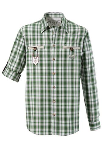 OS - Trachten Trachtenhemd mit Krempelärmel kaufen